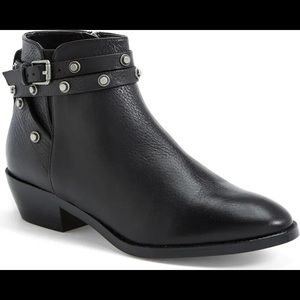 Halogen 'Lidia' Studded Leather Ankle Booties